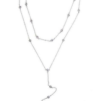 Sterling Silver Double Layer Necklace