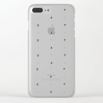 Bees on bees Clear iPhone Case by Camila Quintana S