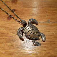 Bronze Sea Turtle Necklace | Candy's Cottage