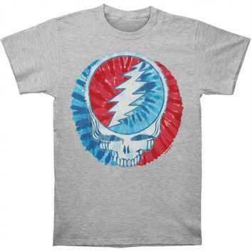 Grateful Dead Men's  Steal Your Dye Slim Fit T-shirt Heather