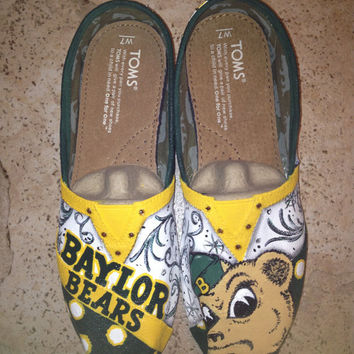 Baylor University hand painted TOMS