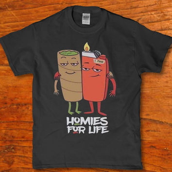 Ketchup and Mustard homies for life adult t-shirt