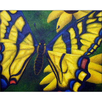 Transform and Be Free - Giclee Print of Acrylic Paint Butterfly Fine Art