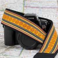Camera Strap, Southwestern Spiral, Canon Camera Strap, Nikon Strap, Pocket, Quick Release, SLR, Photographer Gift, Ready to ship, 224 wx