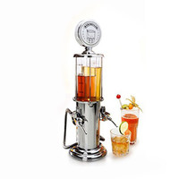 Double Guns Beer Beverage Machine ilver Liquor Pump Beer Alcohol Liquid Water Juice Wine Soda Drink Beverage Dispenser Machine