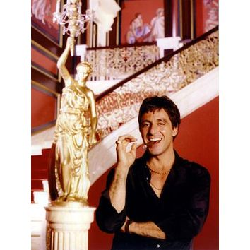 "Al Pacino Scarface Poster Smiling Cigar Mansion 24""x36"""