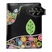 New Peace Dove Black Small Woman's Wallet By Shagwear