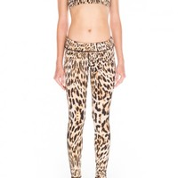 Finders Keepers RUN THE WORLD LEGGING LEOPARD PRINT - BNKR
