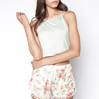 BLAIR POM POM MINT SHORTS
