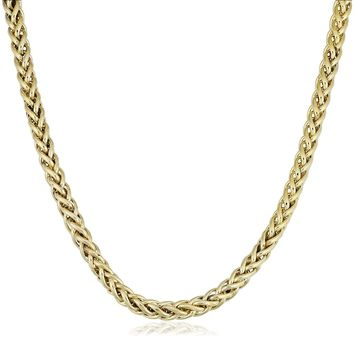 14K Yellow Gold Filled Round Franco Chain Necklace, 6.0mm Wide