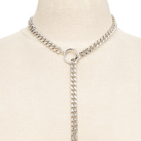 Chain-Link Lariat Necklace