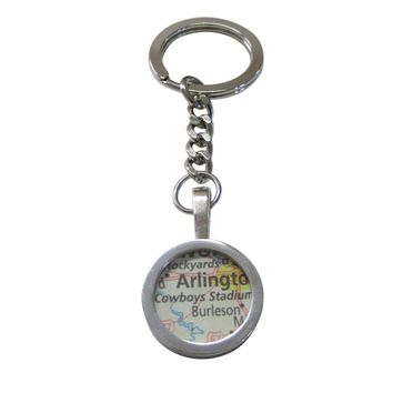 Dallas Cowboys Stadium Map Pendant Keychain