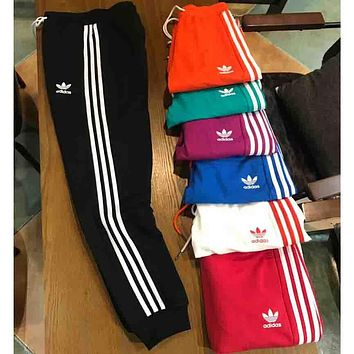 ADIDAS clover 2018 spring and summer couple models wild sports pants F-XMCP-YC black
