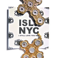 I Still Love You NYC Luxe Cross Earrings Gold One