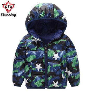 2-6 Years Cute Baby Boys Girls Coats Winter Snow Wear Outerwear & Coats Boys Down Coats 2017 Fashion Kids Boys Jackets Coats