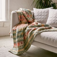 Brushed Camp Geo Throw Blanket - Urban Outfitters