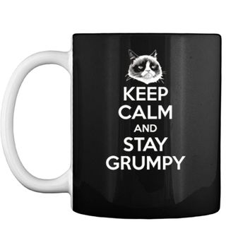 Grumpy Cat Keep Calm And Stay Grumpy Poster Graphic  Mug