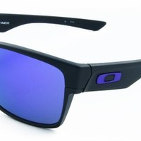 Oakley Men's Two Face OO9256-05 Rectangular Sunglasses, Matte Black, 60 mm