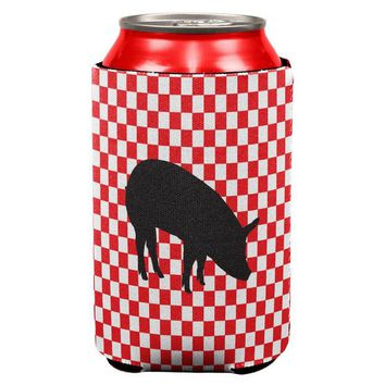 DCCKJY1 Country Kitchen Checkerboard Pig Can Cooler
