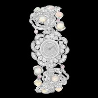 Watch in 18k white gold, opals, pink sapphires and diamonds - J60145 - CHANEL