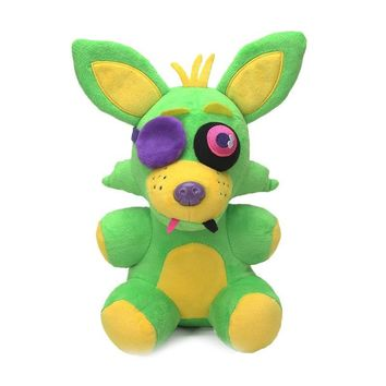 New 25cm  Toys Neon  At  Plush Foxy Cupcake Freddy Fazbear Black Light Collection Plushies Toy