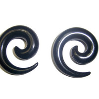 0 Gauge Spiral Ear Tapers from Mizziexoxo Boutique
