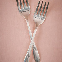 To Have & To Hold Dessert Fork Set (2)