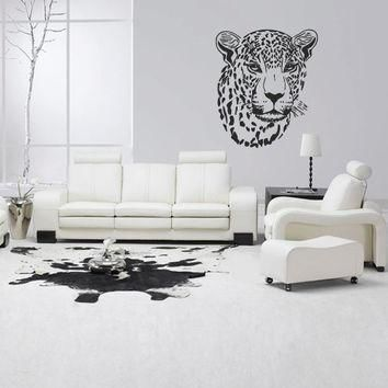 wall decal vinyl art decor sticker design wild cat panther leopard puma jaguar lion an  number 2