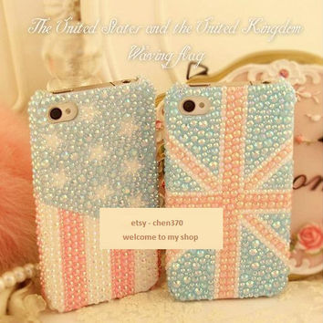 The Waving Flag Flatback Scrapbooking / DIY Phone Case by chen370