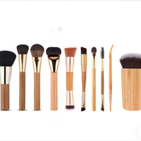 10 Pcs Bamboo Makeup Foundation Brush