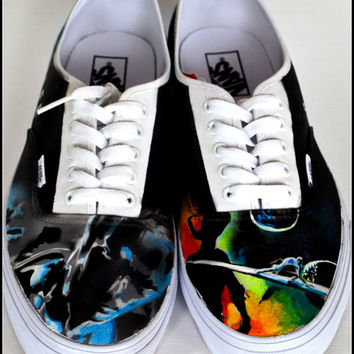 Mens Shoes, Silver Surfer, Custom Vans/Generic/Converse, Mens Custom Shoes, Painted Shoes-Vans, Painted Shoes-Generic, Custom Shoes for Men