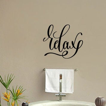 Relax Vinyl Wall Decal Sticker Graphic