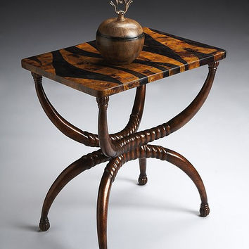 Butler Specialty Heritage Tiger Stripe Accent Table - 6074070