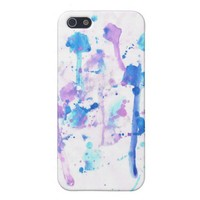 Blue and Purple Splatter Paint iPhone 5 Case from Zazzle.com