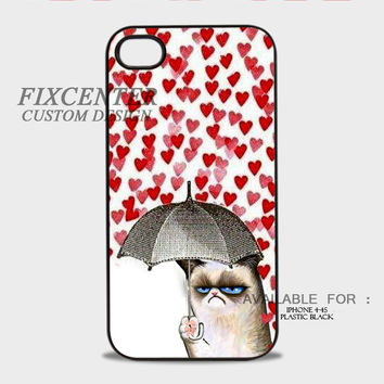 Grumpy Cat Plastic Cases for iPhone 4,4S, iPhone 5,5S, iPhone 5C, iPhone 6, iPhone 6 Plus, iPod 4, iPod 5, Samsung Galaxy Note 3, Galaxy S3, Galaxy S4, Galaxy S5, Galaxy S6, HTC One (M7), HTC One X, BlackBerry Z10 phone case design
