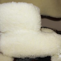 """Wool ugg slippers """"Clouds"""""""