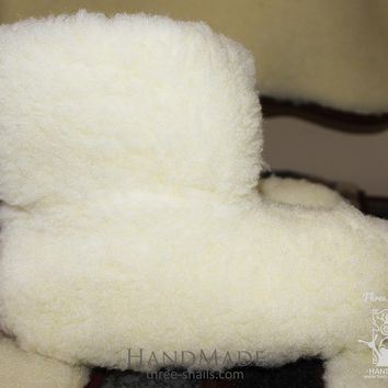 "Wool ugg slippers ""Clouds"""
