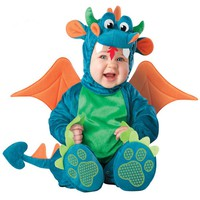 Baby Boys Girls Costume Infant Baby Dinosaur Animal Cosplay Onesuit Newborn Toddlers Clothes Cute Babygrow Fancy Dress Outfits