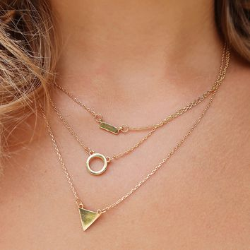 Start Over Necklace: Gold