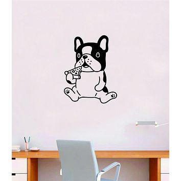 Pizza Dog Quote Wall Decal Sticker Bedroom Home Room Art Vinyl Inspirational Decor Cute Animals Puppy Pet Vet Rescue Adopt Foster Girls Funny Food