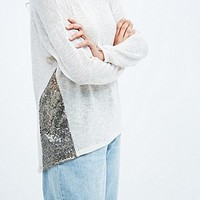 Blu Pepper Side Trim Jumper in Ivory - Urban Outfitters