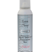 Love In Luxury, Pheromone Silky Sheets Mist 4 Oz Net Wt., Aerosol Can