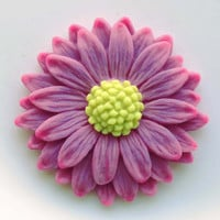 Pretty Pink Glow in the dark Daisy Pendant EyeGloArts Handmade neon Glow Jewelry Made in the USA