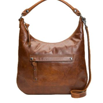 Frye Melissa Zip Hobo Bag Cognac DB0157