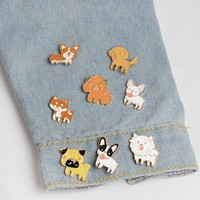 SMJEL 2017 New Fashion Dog Enamel Brooches for Women Cute Pins set Broche BP150