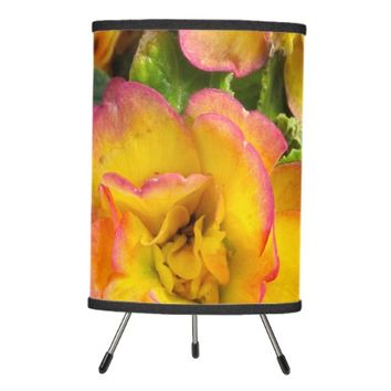 Yellow and Pink Flower Lamp