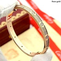 Cartier 2019 new high-end full diamond simple bracelet
