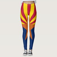 Leggings with flag of Arizona State, USA