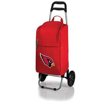 Arizona Cardinals - Cart Cooler with Trolley (Red)