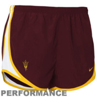 Nike Arizona State Sun Devils Ladies Maroon Tempo Performance Training Shorts